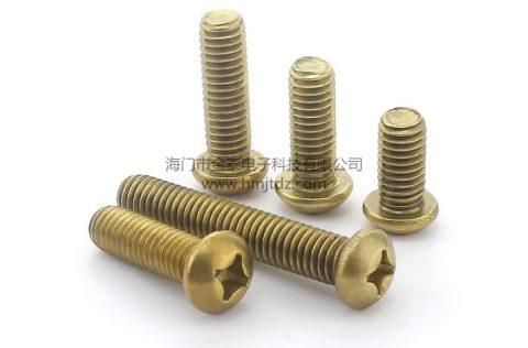 盘头机牙螺丝-黄铜